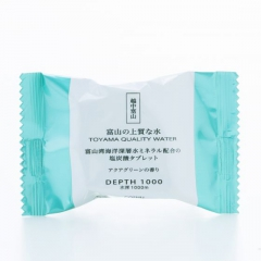 Toyama Bay Deep Sea Water Mineral-Blended - Carbonated Bath Tablet - Aqua-green